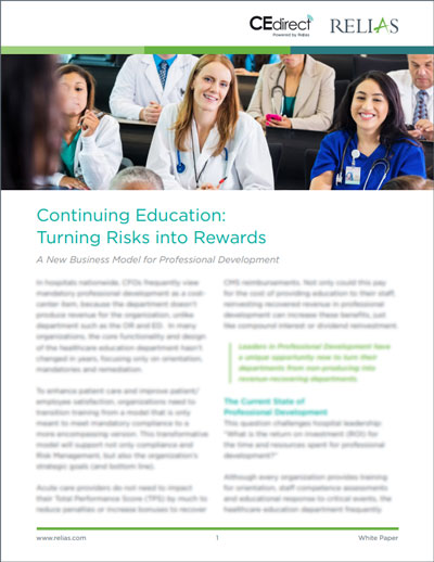 Continuing Education turning risks into rewards white paper