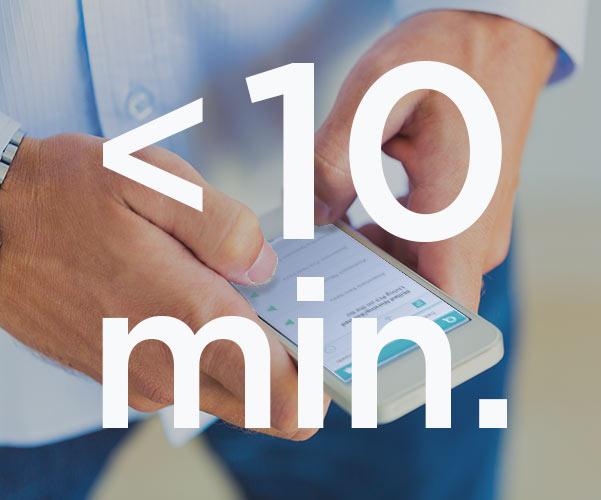 under 10 minutes graphic