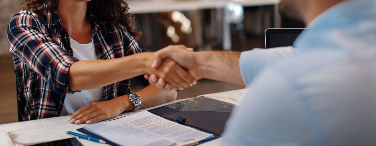 employee handshake