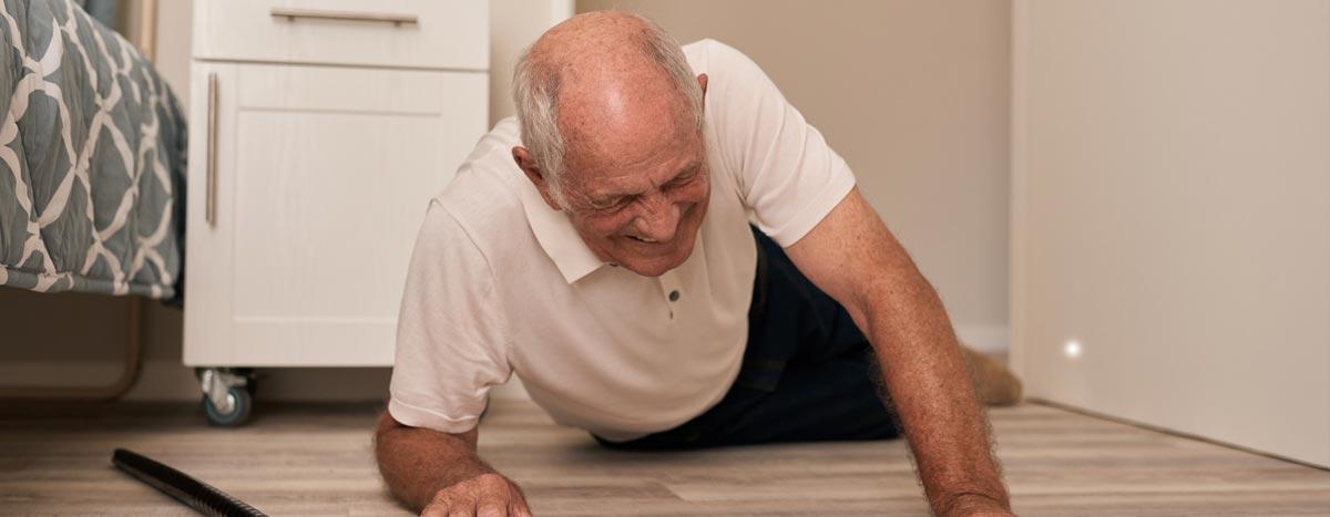 Elderly man involved in fall
