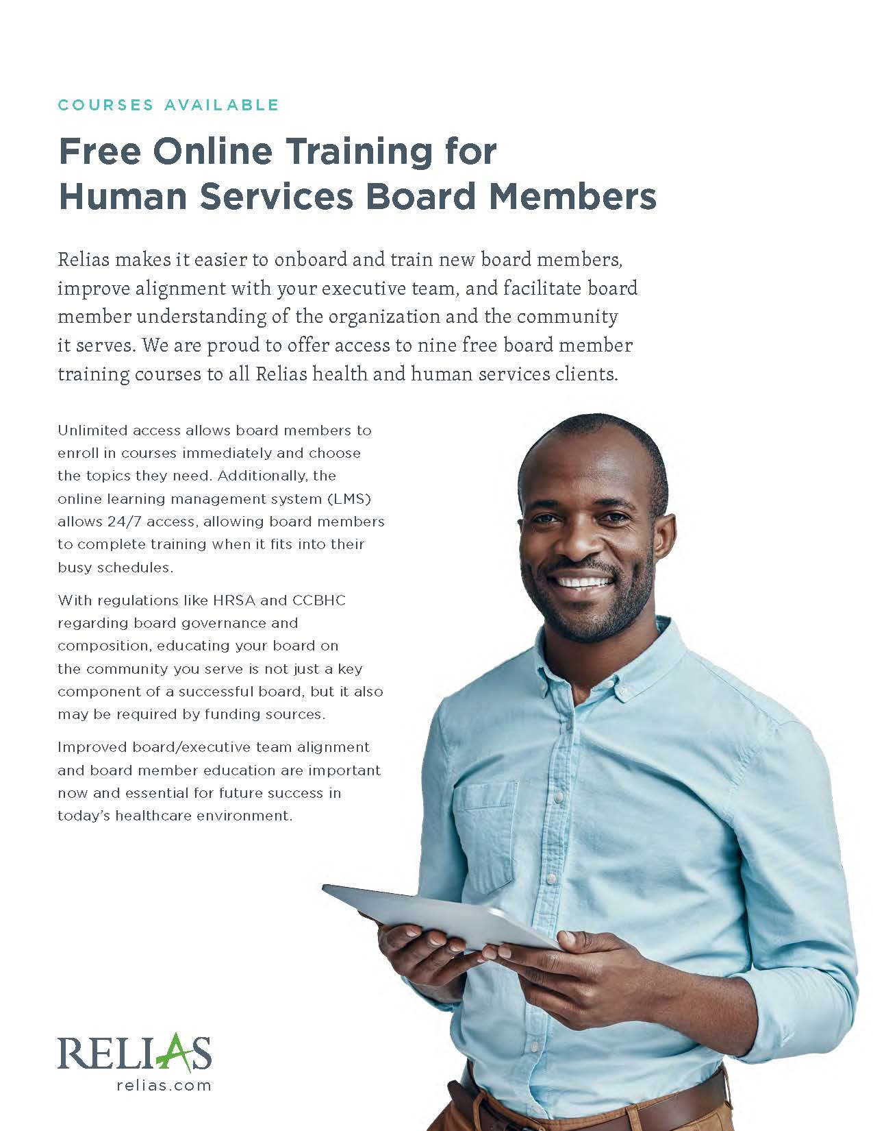 Cover image of the Free Board Member Training factsheet